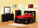 2pc Bedroom Set w/King Bookcase Chest Bed