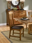 Cattail Bungalow Comfort Side Chair, Warm Amber Finish
