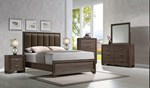 2pc Bedroom Set w/Queen Upholstered Bed