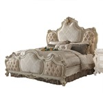 ACME Picardy California King Bed, Fabric & Antique Pearl (1Set/3Ctn)