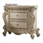 ACME Picardy Nightstand, Antique Pearl
