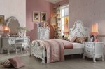 2pc Bedroom Set w/Antique White Queen Bed