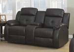 Troy Transitional Power Reclining Love Seat with Storage Console and Cupholders