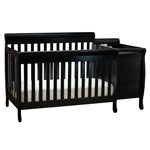 AFG Kimberly Convertible Crib and Changer Black