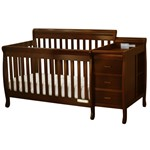 AFG Kimberly Convertible Crib and Changer Espresso