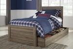 Twin Panel Bed w/Trundle