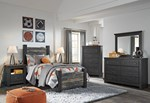 2pc Bedroom Set w/Twin Poster Bed