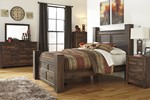 2pc Bedroom Set w/Queen Poster Storage Bed