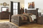 2pc Bedroom Set W/King Poster Storage Bed