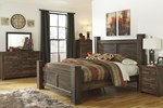 2pc Bedroom Set w/Queen Poster Bed