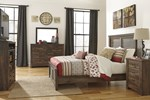 2pc Bedroom Set w/King Panel Bed