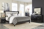 2pc Bedroom Set w/King Upholstered Panel Bed