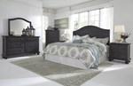 2pc Bedroom Set W/Queen Panel Headboard
