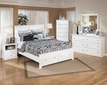 2pc Bedroom Set w/Queen Storage Platform Bed