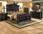 2pc Bedroom Set w/Queen Mansion Bed