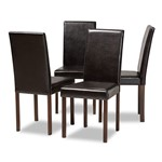 Baxton Studio Andrew Modern Dining Chair (Set of 4)
