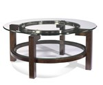 Oslo Round Cocktail Table w/Glass Top