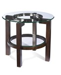 Oslo Round End Table w/Glass Top