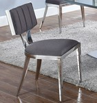 Midcentury Chair w/ textured fabric seat ( Set Of 2 )