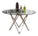Criss-Cross Stainless Steel Table Base