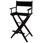 Casual Home Black Extra Wide Premium 30 Inch Directors Chair