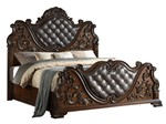 Cosmos Furniture Santa Monica Traditional Style Queen Bed in Cherry finish Wood