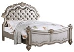 Cosmos Furniture Melrose Transitional Style King Bed in Silver finish Wood