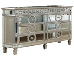Cosmos Furniture Brooklyn Contemporary Style Dresser in Silver finish Wood