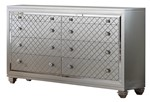 Cosmos Furniture Shiney Contemporary Style Dresser in Silver finish Wood