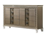 Cosmos Furniture Coral Contemporary Style Dresser in Gold finish Wood
