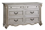 Cosmos Furniture Melrose Transitional Style Dresser in Silver finish Wood