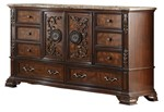 Cosmos Furniture Santa Monica Traditional Style Dresser in Cherry finish Wood