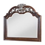 Cosmos Furniture Rosanna Traditional Style Mirror in Cherry finish Wood