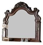Cosmos Furniture Santa Monica Traditional Style Mirror in Cherry finish Wood