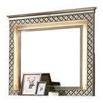 Cosmos Furniture Coral Contemporary Style Mirror in Gold finish Wood