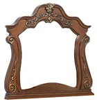 Cosmos Furniture Cleopatra Traditional Style Mirror in Cherry finish Wood