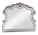 Cosmos Furniture Melrose Transitional Style Mirror in Silver finish Wood