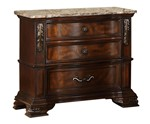 Cosmos Furniture Santa Monica Traditional Style Nightstand in Cherry finish Wood