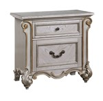 Cosmos Furniture Melrose Transitional Style Nightstand in Silver finish Wood