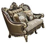 Cosmos Furniture Monica Traditional Style Loveseat in Cherry finish Wood