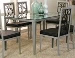 Rect. Stainless Steel/Black Texture Table Base