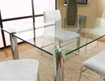 Rectangular Clear Glass Flat Edge Glass Top