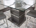 Square 12mm Clear Tempered Glass Table Top