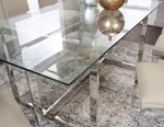 Rectangular Clear Tempered Glass Table Top