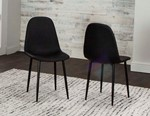Black Polyurethane/Black Powdercoated Side Chair