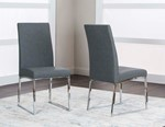 Charcoal Polyurethane/Stainless Steel Side Chair (Welded)