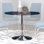 Round Smoked Tempered Glass Table Top