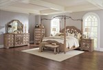 2pc Bedroom Set w/Queen Canopy Bed