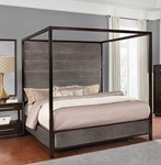 Eastern King Canopy Bed (Smoked Peppercorn)