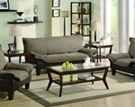 Ashington brown twill microfiber leatherette sofa bed for Furniture 4 u ashington